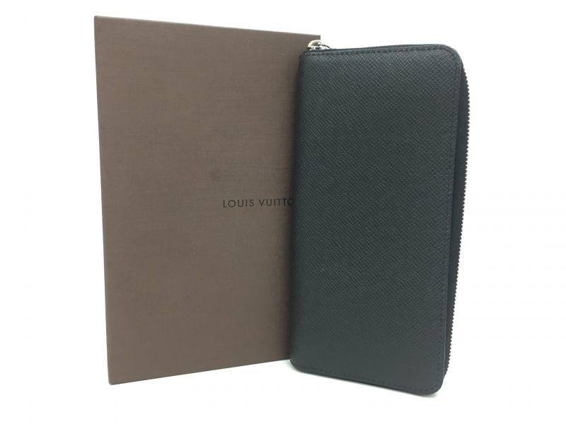 "Photo1: Auth Louis Vuitton Taiga Black Leather Zippy Long Wallet UNUSED  0D280120n"" (1)"