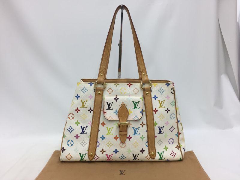 """Photo1: Auth Louis Vuitton Multi color White Aurelia MM Shoulder Tote Bag 0E120140n"""" (1)"""