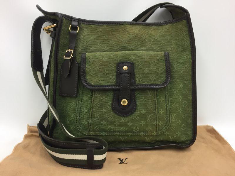 """Photo1: Auth Louis Vuitton Monogram Mini Canvas Besace Mary Kate Shoulder bag 0E120130n"""" (1)"""
