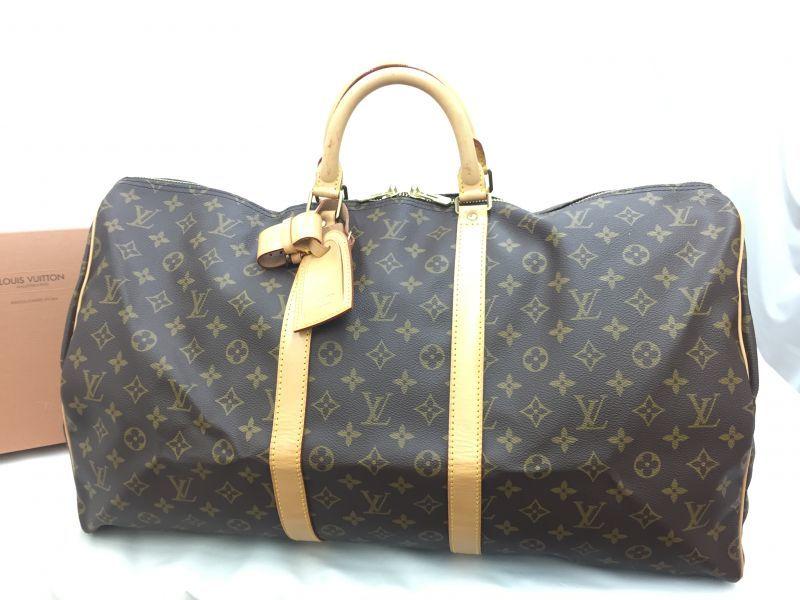 "Photo1: Auth Louis Vuitton Monogram Keepall 55 Travel Hand Bag vintage 0E120010n"" (1)"