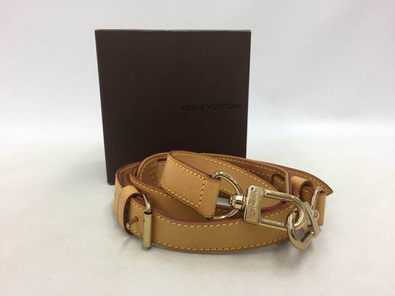 """Photo1: Auth LOUIS VUITTON  Gold tone Leather Adjustable Shoulder Strap 0E120030n"""" (1)"""