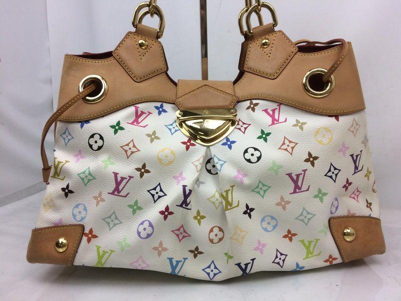 Photo1: Auth Louis Vuitton Monogram Multicolor Ursula Shoulder Bag 7L190040r (1)