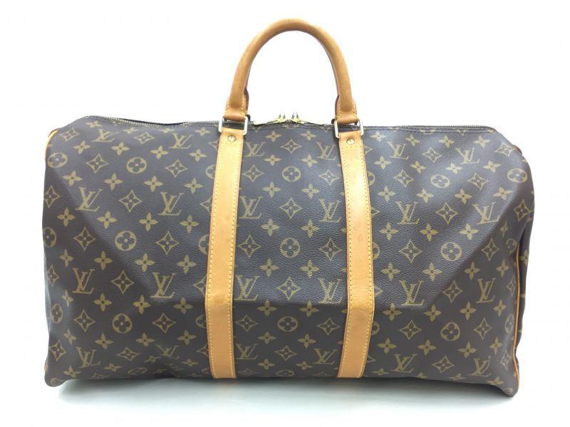 "Photo1: Auth Louis Vuitton Monogram Keepall 50 Travel Hand Bag vintage 0F170030n"" (1)"