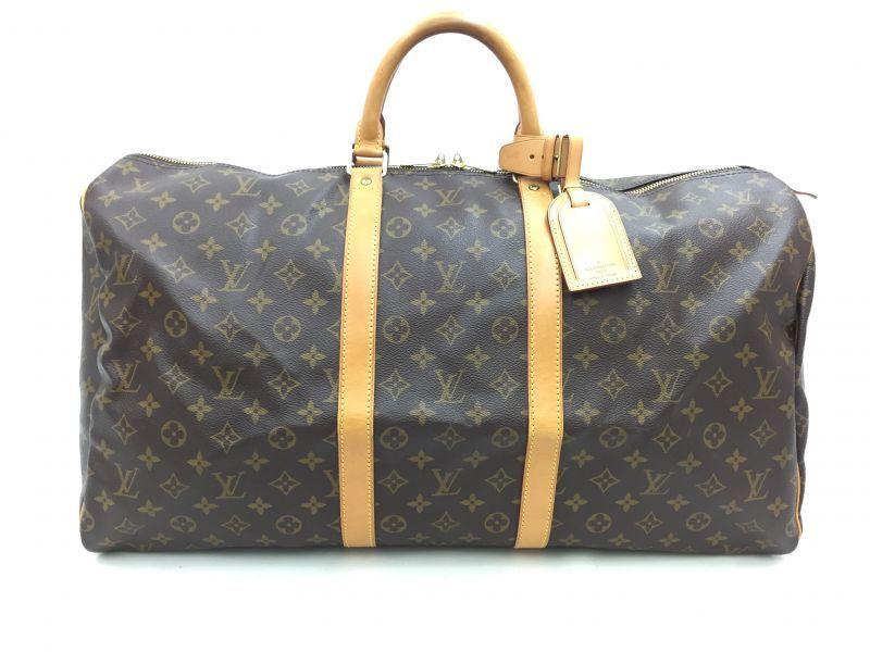 "Photo1: Auth Louis Vuitton Monogram Keepall 55 Travel Hand Bag vintage 0F170020n"" (1)"