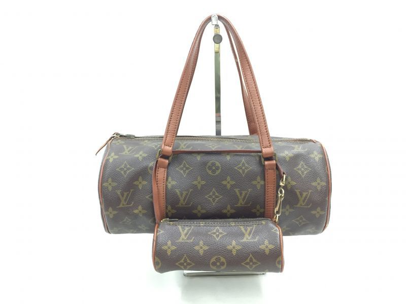 "Photo1: Auth Louis Vuitton Monogram Papillon 30 hand bag with JUNK Pouch 0F180010n"" (1)"