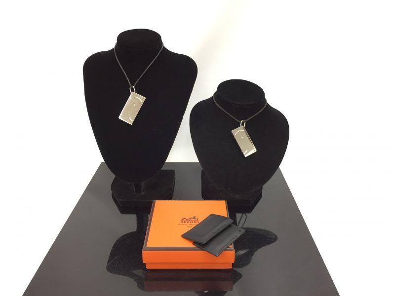 "Photo1: Auth HERMES Symbole 1+1=1 smile Necklace set with box 0F230090n"" (1)"