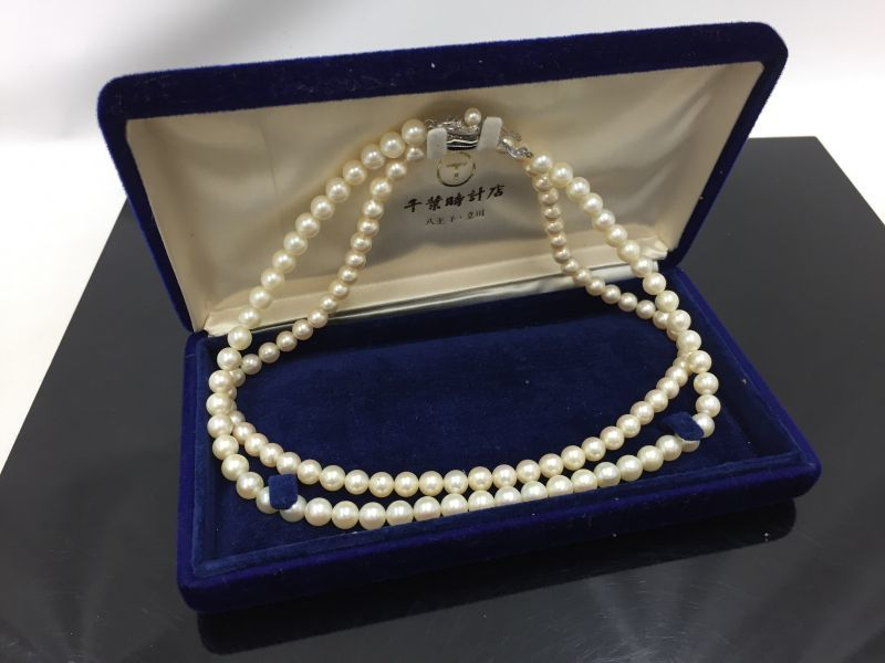 """Photo1: Unbranded Pearl Necklace Made in Japan 36 cm & 38 cm 2 set 0F230240n"""" (1)"""