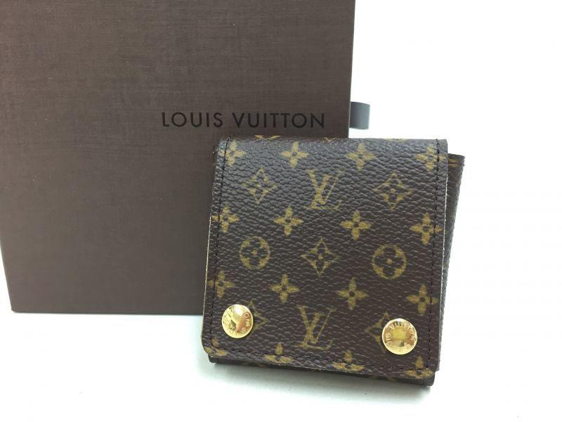 "Photo1: Auth Louis Vuitton Monogram Mini Jewelry Folding Case 0F230190n"" (1)"