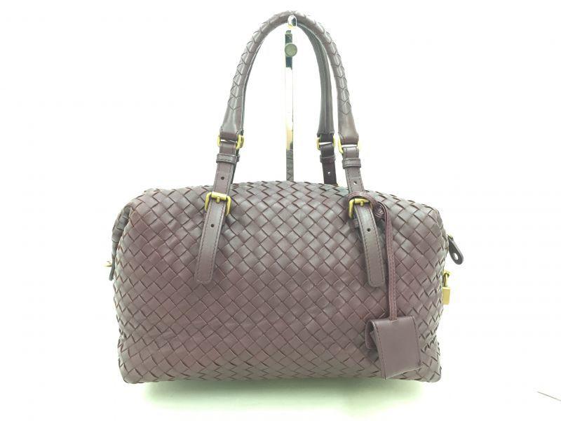"Photo1: Auth Bottega Veneta Purple Leather Intrecciato Women's Hand bag 0G15 1912009 n"" (1)"