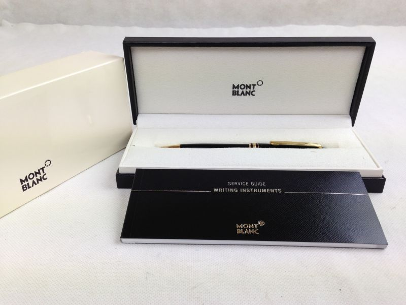 Photo1: Authentic MONTBLANC Meisterstuck Ballpoint Pen with Case 5G210330 (1)